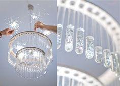 試験管でできたシャンデリア - Maria S.C. double test tubes chandelier