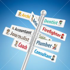 occupation signpost Royalty Free Stock Photo