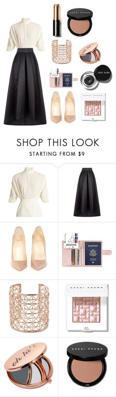 """Modern style"" by merve-hotkid on Polyvore featuring Emilia Wickstead, Temperley London, Christian Louboutin, Co.Ro, Bobbi Brown Cosmetics, Miss Selfridge and modern"