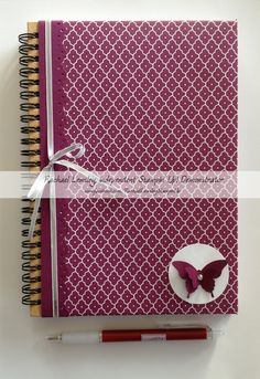 Summer Smooches journal w/Bitty Butterfly and Elegant Butterfly punch outs