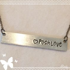 Posh Love Dainty Necklace Cute Posh Love Silver antique necklace. Very unique cute to wear to show your posh love. Fast shipping. Bundle more to save. Thank you. Posh Jewelry Necklaces