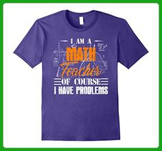 Mens Funny Math Teacher T-Shirt XL Purple - Math science and geek shirts (*Amazon Partner-Link)