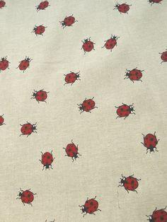 Fabric with ladybird. $16,50, via Etsy.