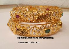 Gold Bangles Design, Gold Jewellery Design, Gold Pendent, Necklace Designs, Indian Jewelry, Jewelry Collection, Fashion Jewelry, Diamond Jewelry, Gold Jewelry