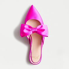 Crew for the Gwen slingback flats with bow in satin for Women. Find the best selection of Women Clothing available in-stores and online. Pointy Toe Flats, Bow Flats, Slingback Flats, Pumps, Crew Clothing, Fabric Bows, Slip On, Clothes For Women, My Style