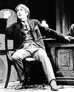 "Alan Rickman as Sherlock in ""Sherlock Holmes"" (1976)"