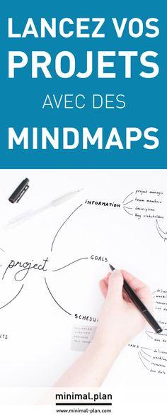 Utilisez des mindmaps pour fiare vos to-do listes et faire décoller vos projets ! / mindmap, carte menatle, carte heuristique, gestion de projets, chef de projets, productivité, carnet de projets, journal de projets, idées planner, planner, gestion du temps, gagner du temps, organisation, organisation personnelle