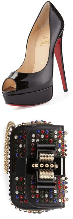 Christian Louboutin Lady Peep Pumps | House of Beccaria~