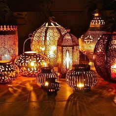 Moroccan lanterns around outside for that balmy summer evening feel. www.handbag.com