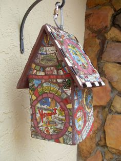 State plate mosaic birdhouse | Flickr - Photo Sharing!