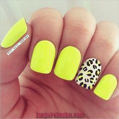 25 Amazing Yellow Nail Art Designs to Go with This Summer - fashionist now Neon Yellow Nails, Yellow Nails Design, Yellow Nail Art, Neon Nails, White Nail, Neon Nail Art, Bright Nails Neon, Stylish Nails, Trendy Nails