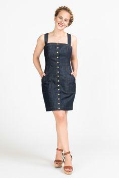 ff4cc6a4 Fiona Sundress Pattern // Princess seam mini dress summer dress pattern //  Closet Case