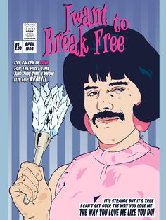 I Wanna Break Free! Rock Band Posters, Rock Poster, Poster Wall, Poster Prints, Bedroom Wall Collage, Photo Wall Collage, Picture Wall, Vintage Music Posters, Queen Poster