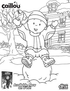 were celebrating the holidays early with this adorable coloring sheet and caillous holiday movie - Caillou Gilbert Coloring Pages
