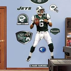 New York Jets Mark Sanchez Fathead Player Wall Decal
