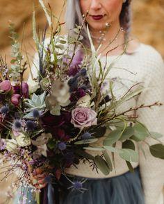 Bouquet de mariée par Fleurs de Céléno - Photo par Emilie Bernard
