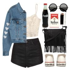"""Coca Cola"" by junk-food ❤ liked on Polyvore featuring moda, Topshop, Converse, Cut N' Paste y The Row"