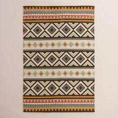 One of my favorite discoveries at WorldMarket.com: Boho Kilim Reversible Kanpur Area Rug