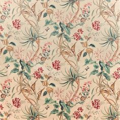 Shop for Fabric at Style Library: Mauritius by Sanderson. Adapted from an early century French design, this bountiful, cotton fabric was o. Textiles, Textile Patterns, Print Patterns, Harlequin Fabrics, Sanderson Fabric, Made To Measure Curtains, Lounge Decor, Trendy Wallpaper, Green Fabric