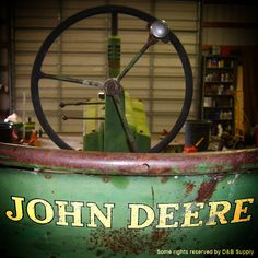 This is a before shot of the Idaho FFA Foundation John Deere tractor that is up for raffle.