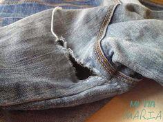 Los trucos de la Mari: Como reparar la entrepierna de un pantalón