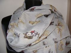 Hunting scarf  - Field Sport - Fox hounds horses - Countryside - Wide & Long