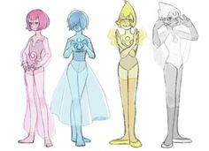 Blue and yellow pearls are correct i don't now if the other pearls are true