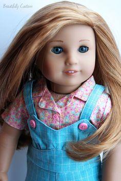 Custom OOAK American Girl Doll *Marie Grace Aqua Blue Eyes, Mia Ginger Red Hair* #Dolls