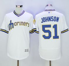 Mariners  51 Randy Johnson White Flexbase Authentic Collection Cooperstown  Stitched MLB Jersey 7a244e7247