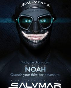 NOAH Mask - Quench Your Thirst For Adventure - www.salvimar.com #freediving #spearfishing #mask http://ift.tt/1olD6mt