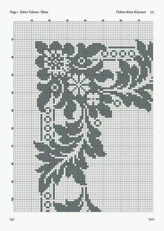 Crochet Lace Edging, Filet Crochet, Crochet Doilies, Crochet Hooks, Knit Crochet, Cross Stitch Borders, Cross Stitch Patterns, Cross Stitch Freebies, Shawl Patterns