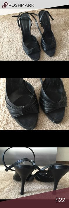 Black sandal heels Black strappy sandals, 2 and a half inch heels Aldo Shoes Heels