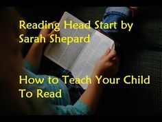Reading Head Start by Sarah Shepard - How to Teach Your Child to Read