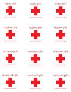 Happy Pill Labels. $6.50, via Etsy.