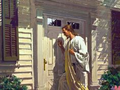"""Revelation 3:20 (NLT)  20 """"Look! I stand at the door and knock. If you hear my voice and open the door, I will come in, and we will share a meal together as friends."""