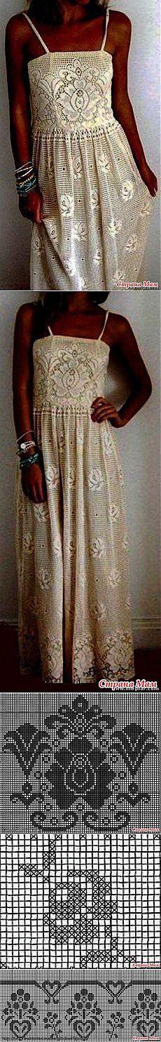 """Чудо платье в филейной технике: Дневник группы """"Все в ажуре... (вязание крючком)"""" - Страна Мам"""