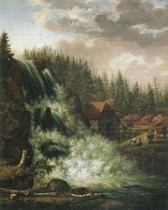 Norwegian Landscape, Rogna Waterfall - Johan Christian (J.C.C.) Dahl - The Athenaeum