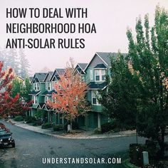 While many neighborhood #HomeOwnersAssociations #HOA will turn a blind eye to architecture that most would find decidedly unloveable, they do tend to fixate on ugly solar panels.  Other than not living in a community with an HOA, what is the best way around the problem?