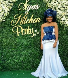 Wedding Outfits For Family Members Sotho Traditional Dresses, African Traditional Wedding Dress, Traditional Wedding Attire, African Wedding Attire, African Attire, African Fashion Dresses, African Dress, Wedding Dress Pictures, Blue Wedding Dresses