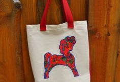 Torba FOLK-czerwony konik. Tote bag with red folk horse.