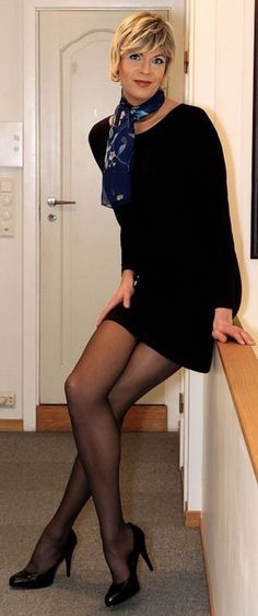 """hgillmore: """" Well Dressed Crossdressers and Transgendered Women """" Fembois, After Life, Lingerie, In Pantyhose, Nylons, Tgirls, Looking Gorgeous, Look Cool, Crossdressers"""