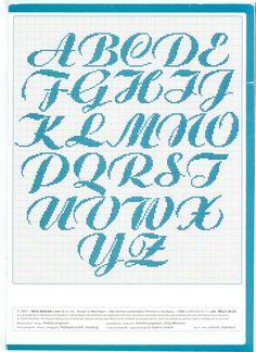 Schreibschrift ABC Großbuchstaben