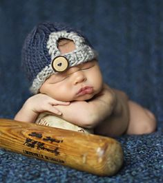 Baseball Newborn Boy Portraiture Marketing by Marcel Photography for Dish and…