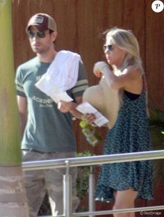 Finally Found You' singer Enrique Iglesias arrives in Cabo, Mexico with his girlfriend Anna Kournikova on November 5th, 2012. Description from zimbio.com. I searched for this on bing.com/images
