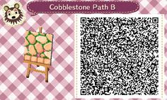 Peach cobblestone with little flowers, as per... - Animal crossing things and stuff.