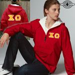 Chi Omega Twill Lettered Pullover Jacket