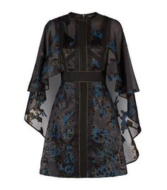 Elie Saab Cape Jacquard Dress Black available to buy at Harrods. Shop online and earn Rewards points. Butterfly Print Dress, White Butterfly, Butterfly Pattern, Monarch Butterfly, Elie Saab Dresses, Jacquard Dress, Sheer Dress, Foto E Video, Pretty Dresses