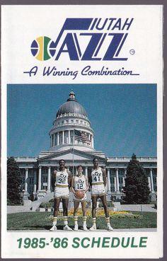 1985-86 UTAH JAZZ  COORS BEER BASKETBALL POCKET SCHEDULE  FREE SHIPPING #Schedule