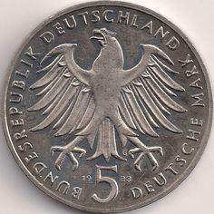 Wertseite: Münze-Europa-Mitteleuropa-Deutschland-Deutsche-Mark-5.00-1983-Martin Luther