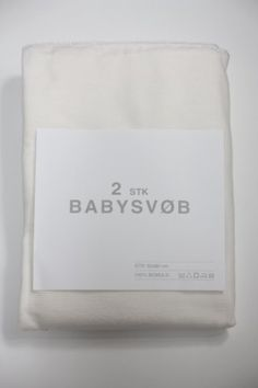 2 Stk Babysvøb - Hvid/Hvid - Babysam.dk eller andre babytæpper